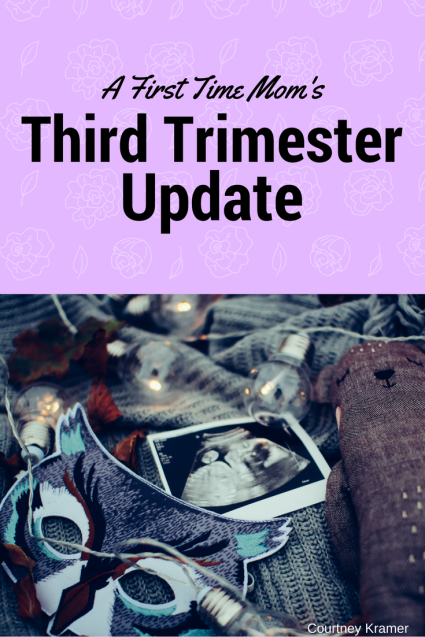 I was thinking about my third trimester experiences compared to previous trimesters and I think this trimester just may be my favourite. Although at times I feel really uncomfortable, hot, tired and don't sleep through the night I am sort of loving third trimester.